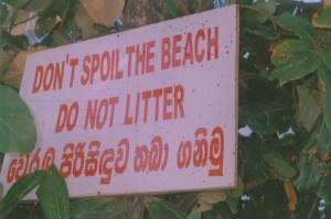 Fort Galle beach Clean Up