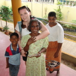 2008- Sri Lanka, Hugs all around with Lily!