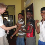 2005- Sri Lanka, Scott Longheyer with Boys making building repairs
