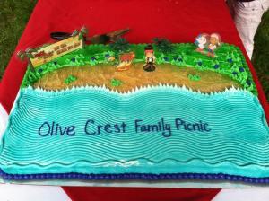 Olive Crest cake