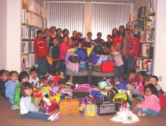 Over 350 COLOR Boxes were collected for children and youth affected by Hurricane Katrina.